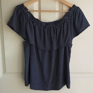 Madewell Off The Shoulder Balcony Top Size Medium